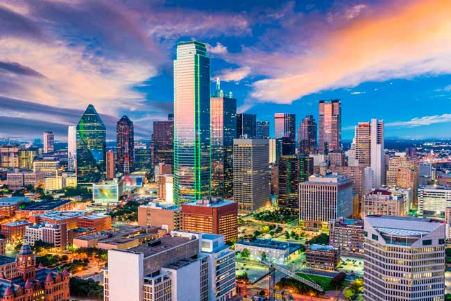 Dallas is the largest and most populated city in the state of Texas, United States.